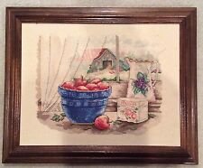 Nicely Framed Vintage Needlepoint