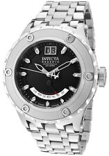 Invicta Men's 1582 Reserve Retrograde Black Dial Stainless Steel Watch