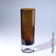 Stangenvase braun Gral Glas Entw. Roland Pösch LAS PALMAS 1965 H=25,6 cm #140
