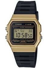 Casio F91WM-9A Classic Black Gold Sports Watch Retro Style F-91