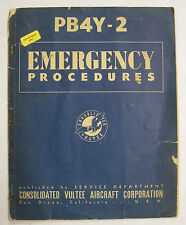 1945 PB4Y-2 Consolidated Vultee Original Emergency Procedures