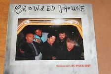 Crowded House ‎/ Official Live 2CD / Vancouver March 9, 2007 / SEALED / Kufala