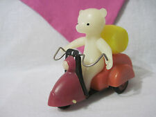 Russian Vintage toy/Doll Bear on Scooter, Metal, Plastic, USSR, 60's. Very Rare!