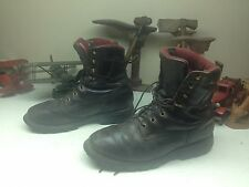 BROWN DISTRESSED USA CHIPPEWA LACE UP ENGINEER WORK BOSS BOOTS 12 E