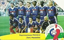 RARE / CARTE TELEPHONIQUE - FOOTBALL MONDIAL FRANCE 98 ZIDANE BLANC BARTHEZ DECH