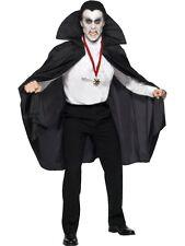 Noir Vampires Cape 144cm Long Halloween Hommes Accessoire Déguisement