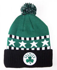 Boston Celtics Toddler 2 - 4  Pom Cuff Knit Beanie hat cap Adidas Team Colors