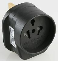 ALL CONTINENTS CONTINENTAL TRAVEL SOCKET TO UK PLUG ADAPTER 3 pin ADAPTER