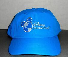 NEW DISNEY VACATION CLUB BLUE CAP WITH WHITE NEW LOGO EMBROIDERED  Fast Ship!