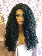 FREE SHIPPING Lace Front Wig - Brazilian Top Braid - Wavy Natural Black Hair