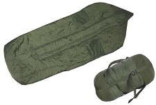 Britischer Mumien Schlafsack oliv gebraucht Armeeschlafsack 220cm sleepingbag