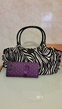Kate Spade Nylon STEVIE BABY BAG Collection in Zebra Print Diaper Bag