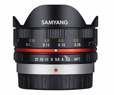 Samyang 7.5mm F3.5 Wide-Angle Fisheye Lens for Micro Four Thirds Black