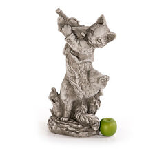 Katze mit Geige Tierfiguren Steinfiguren Gartenfiguren Sandstein Katzen 462815