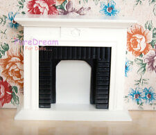 1:12 Dollhouse Miniature Wooden Furniture Fireplace Living Room For dolls