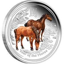 2014 Perth Anda Show Special Year of the Horse 2oz Silver Proof Coin Numbered: