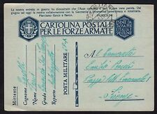 POSTA MILITARE 1941 Franchigia da PM 68 a Firenze (M4)
