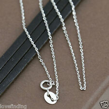 Genuine 18CT Solid White Gold Fine Trace Chain 45cm Italy Made