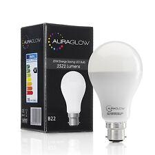 AURAGLOW 15w LED B22 Bayonet Light Bulb, Warm White, 1521 Lumens - 100w EQV