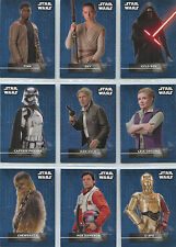 Star Wars the Force Awakens Series 2 Sticker 18 Card Chase Set