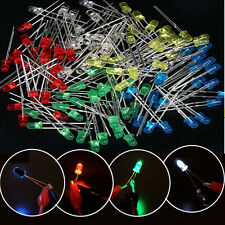 100PCS 3mm 2Pin Red Green Blue White Color Light Emitting LED Diode Assorted Set