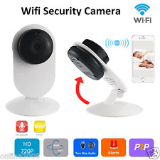Wireless Two-Way Audio Chatting WiFi IP Pan Security Camera Night Vision Webcam
