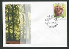POLEN FDC FAUNA BISON BISONS WISENT WISENTE BUFALLO COVER POSTMARK d5994