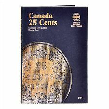 Whitman Coin Folder 2481 CANADA 25 Cents 1870-1910 Volume 1