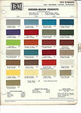1970 PLYMOUTH BARRACUDA VALIANT FURY BELVEDERE PAINT CHIPS (R-M)