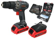 HEAVY DUTY 18V LITHIUM ION CORDLESS DRILL DRIVER SCREWDRIVER 2 BATTERIES IN CASE