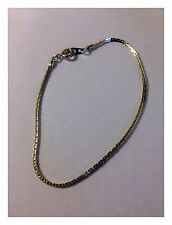 Thin Silver / Gold Colour Bracelet 18cm Long (When Open) - Costume Jewellery New