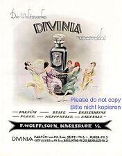 Parfüm Divinia XL Reklame 1925 tanzende Damen Nachthemd Negligé Tanz Erotik +