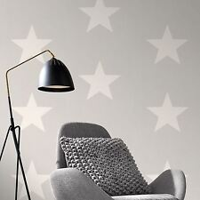 RASCH STARS WALLPAPER - WHITE & GREY 248128 NEW ROOM DECOR