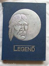 1987 WILLIAM R. BOONE HIGH SCHOOL YEAR BOOK ORLANDO, FLORIDA   LEGEND  UNMARKED!