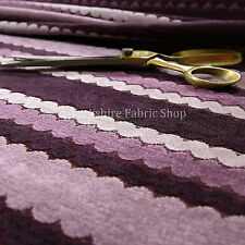 New Designer Eclipsed Striped Pattern Purple Colour Chenille Upholstery Fabrics