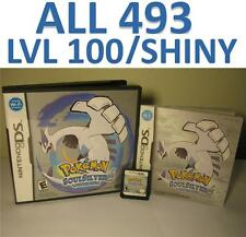 Pokemon Soul Silver DS lite DSi XL 2DS 3DS All 493 LvL 100 Shiny SoulSilver