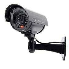 FAKE DUMMY CCTV SECURITY CAMERA BLACK FLASHING LED INDOOR OUTDOOR SURVEILLANCE