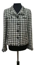 EPISODE Jacket Size 16 Black & Grey Wool Blend *NEW* Houndstooth Wedding Races