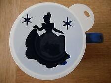 Láser de corte princesa con estrellas de diseño del café y artesanía de la plantilla
