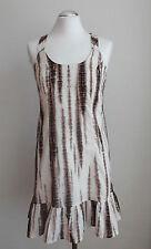 ESPRIT Damen Kleid  Sommerkleid Trägerkleid braun-weiß  Gr. 36  S  Neu