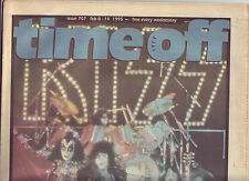 Time Off Brisbane free music paper from 1995 with Kiss cover
