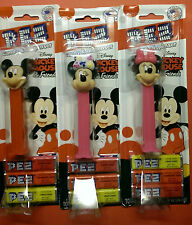 **~~Disney MICKEY MOUSE and MINNIE MOUSE Lot of 3 PEZ Dispensers New on Cards!!