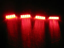 4 Universal RED LED Rear Brake Lamp Tail Light Motorcycle Custom Street SR400
