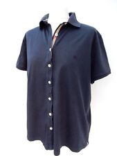 BURBERRY London NAVY BLUE Loose BUTTON FRONT Casual BLOUSE Size 50 UK 16 (749)