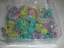 Mini Flower Shiny Glittery Cute Plastic Hair Snap Claw Styling Lot of 576 Clips