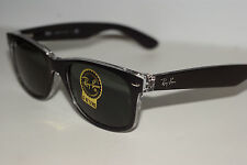 RAYBAN  SUNGLASSES NEW  WAYFARER  2132  MATTE BLACK/CRYSTAL 6052 G-15  55MM EYE