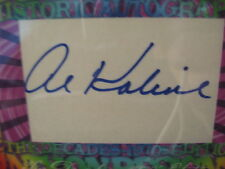 "AL KALINE CUT AUTO CARD--HISTORIC AUTOGRAPHS DECADE OF THE 70""S  #2/3 !!!"