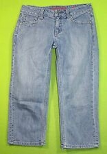 EUC New York & Co Curvy Soho Crop Capris 2 Womens Blue Jeans Denim Pants EP77