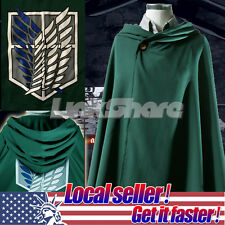 9.9US SALE Attack on Titan Shingeki no Kyojin Scouting Legion Cosplay Cloak Cape