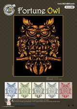 """""""Fortune Owl"""" Counted cross stitch pattern leaflet. SODAstitch SO-G88"""